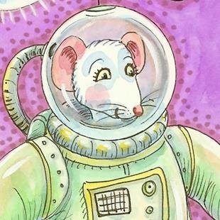 Art: SPACE MOUSE by Artist Susan Brack