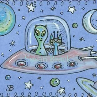 Art: SMILES ARE FREE - OUT OF THIS WORLD by Artist Susan Brack