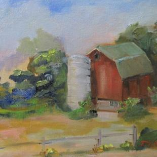 Art: Barn and Silo by Artist Delilah Smith