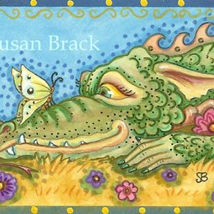 Art: CLOSE ENCOUNTER Dragon by Artist Susan Brack