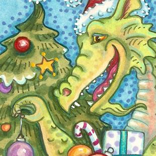 Art: DRAGON CHRISTMAS by Artist Susan Brack