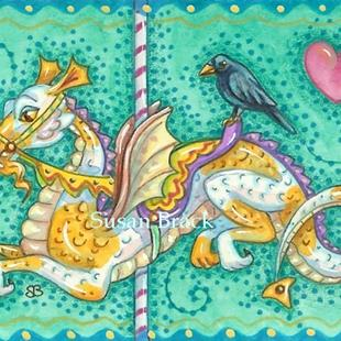 Art: DRAGON GO ROUND by Artist Susan Brack