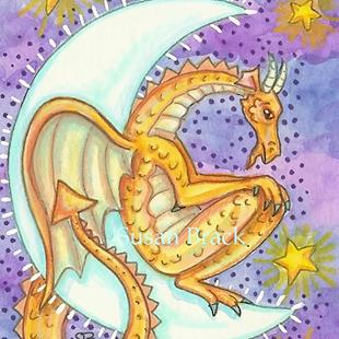Art: DRAGON'S MELANCHOLY MOON by Artist Susan Brack
