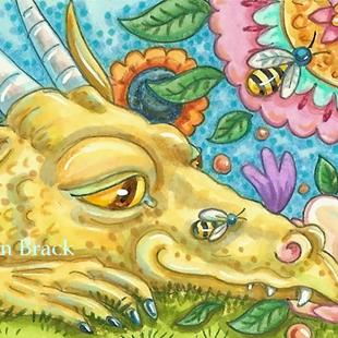 Art: FLOWER BREATHING DRAGON by Artist Susan Brack