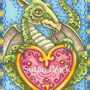 Art: HEART OF A DRAGON by Artist Susan Brack