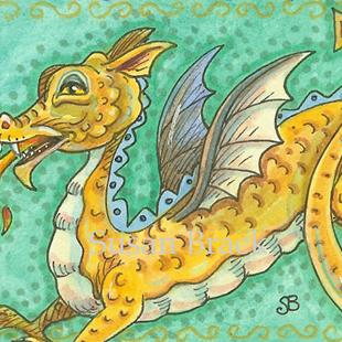Art: LEAPING LIZARD Dragon by Artist Susan Brack
