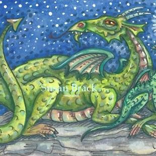 Art: NEXT GENERATION Dragon Family by Artist Susan Brack