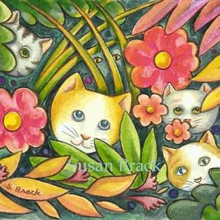 Art: MY CAT'S SECRET GARDEN by Artist Susan Brack