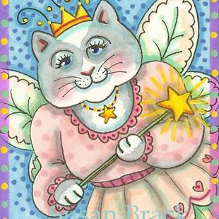 Art: FAIRY GODMOTHER Cat by Artist Susan Brack