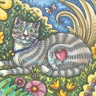 Art: FLORA AND FELINE by Artist Susan Brack