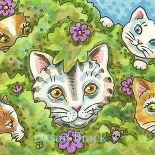 Art: I SPY A MOUSE Cats by Artist Susan Brack