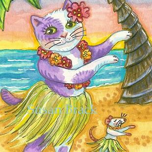 Art: HULA LESSONS by Artist Susan Brack