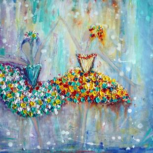 Art: HAPPY BALLERINAS by Artist LUIZA VIZOLI