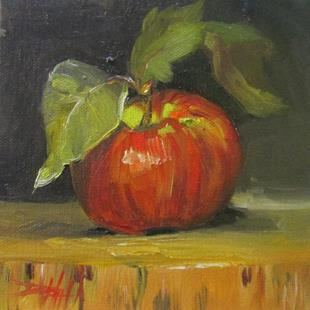 Art: Red Apple by Artist Delilah Smith