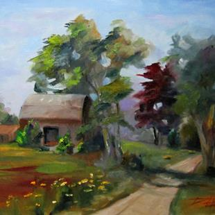 Art: Barn by the Road by Artist Delilah Smith