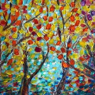 Art: FALL Season and BIRCH Trees by Artist LUIZA VIZOLI