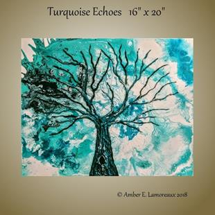 Art: Turquoise Echoes (sold) by Artist Amber Elizabeth Lamoreaux