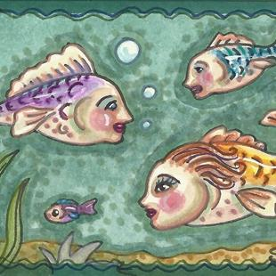 Art: IF FISHES HAD FACES by Artist Susan Brack