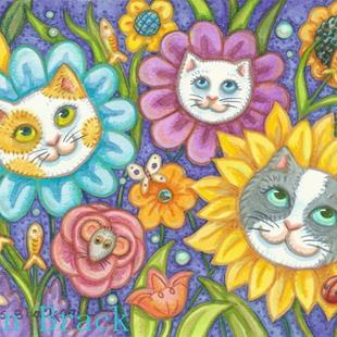 Art: KITTIES GARDEN by Artist Susan Brack