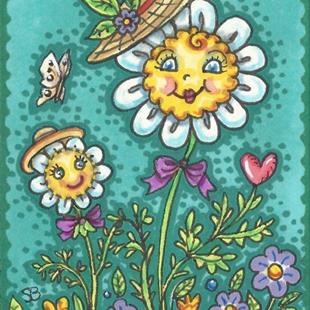 Art: DAISIES ARE LIKE SUNSHINE IN YOUR GARDEN by Artist Susan Brack