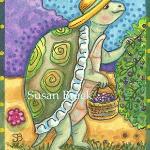 Art: TURTLE BERRY SEASON by Artist Susan Brack
