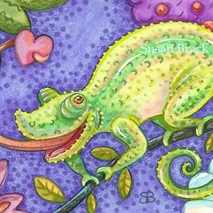 Art: HEART OF A CHAMELEON by Artist Susan Brack