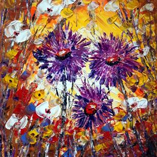 Art: Fall Flowers by Artist LUIZA VIZOLI