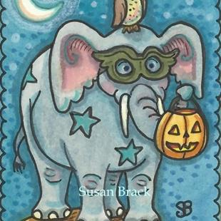 Art: WHOOOO'S YOUR TRICK OR TREAT BUDDY by Artist Susan Brack
