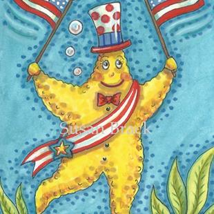 Art: OLD GLORY BE UNDER THE SEA by Artist Susan Brack