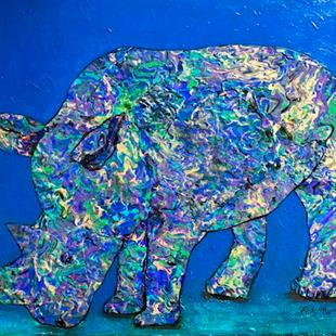 Art: My Purple Rhino by Artist Ulrike 'Ricky' Martin