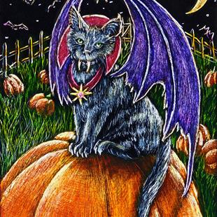 Art: Count Catcula  (SOLD) by Artist Monique Morin Matson