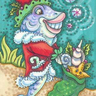Art: FISH TALES OF CHRISTMAS by Artist Susan Brack