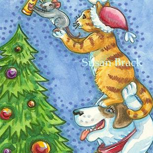 Art: MAGIC OF CHRISTMAS by Artist Susan Brack