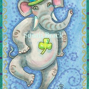 Art: LUCK OF AN IRISH ELEPHANT by Artist Susan Brack