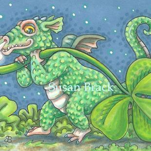 Art: LITTLE IRISH DRAGON by Artist Susan Brack