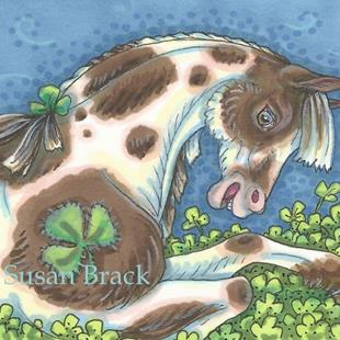 Art: BED OF SHAMROCKS by Artist Susan Brack