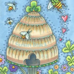 Art: IRISH BEE HIVE by Artist Susan Brack