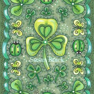 Art: SHAMROCKS N' LADYBUGS by Artist Susan Brack