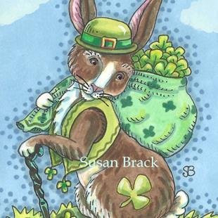 Art: SHAMROCK RABBIT by Artist Susan Brack