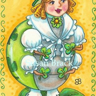 Art: LUCK OF AN IRISH LADYBUG by Artist Susan Brack