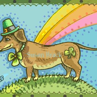 Art: ST. PATTY'S DOXIE by Artist Susan Brack