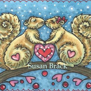 Art: NUTTY OVER YOU by Artist Susan Brack