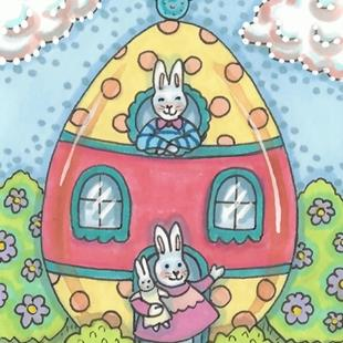 Art: EASTER COTTAGE by Artist Susan Brack