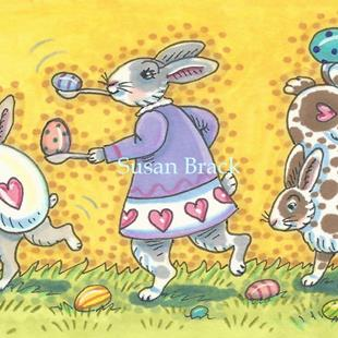 Art: EGG RACE by Artist Susan Brack