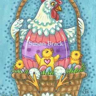 Art: HATCHING EASTER CHICKS by Artist Susan Brack
