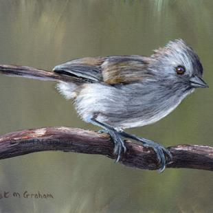 Art: Oak Titmouse no 3 by Artist Janet M Graham