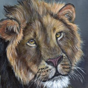 Art: Lion by Artist Janet M Graham