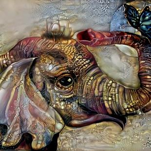 Art: Dirty Elephant by Artist Alma Lee