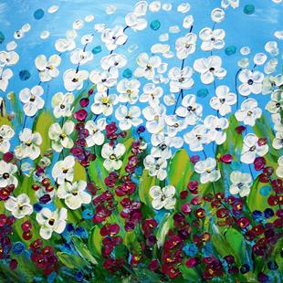 Art: SUMMER FLOWERS FIELD by Artist LUIZA VIZOLI