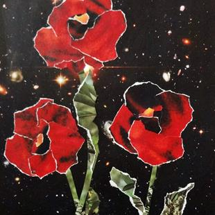 Art: Space Poppies by Artist Vicky Helms